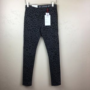 NWT The Jegging animal print skinny jeans size 4